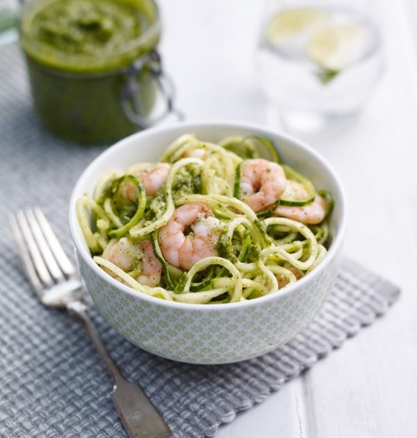 Watercress and Pumpkin Seed Pesto with Courgetti