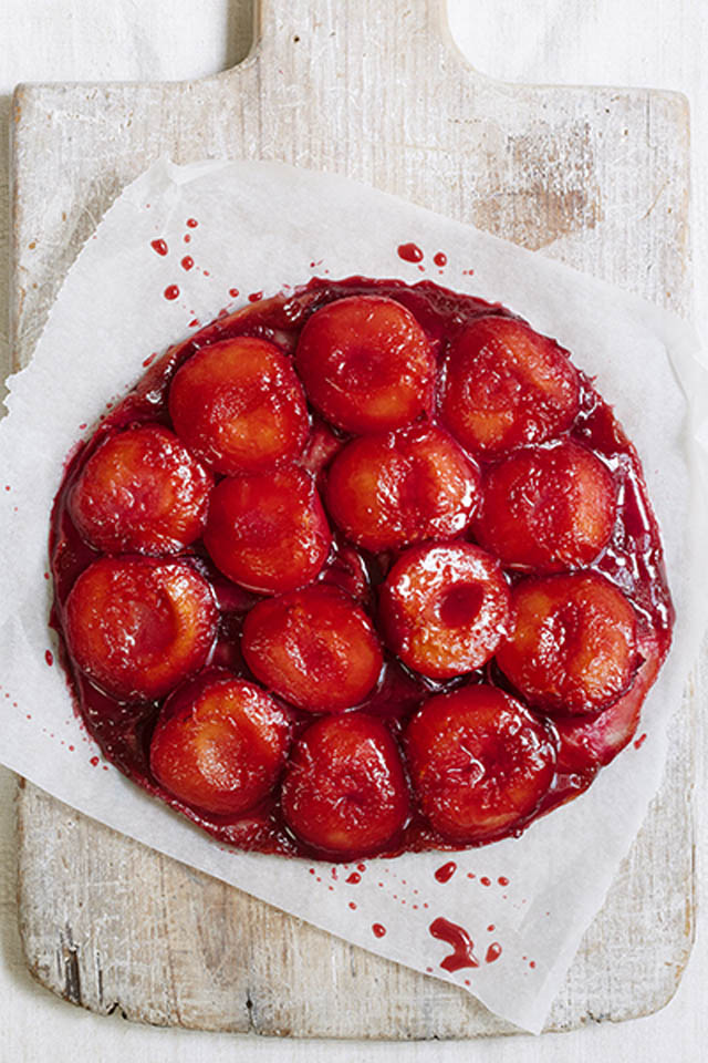 Mary Berry's Plum and Marzipan tart tatin