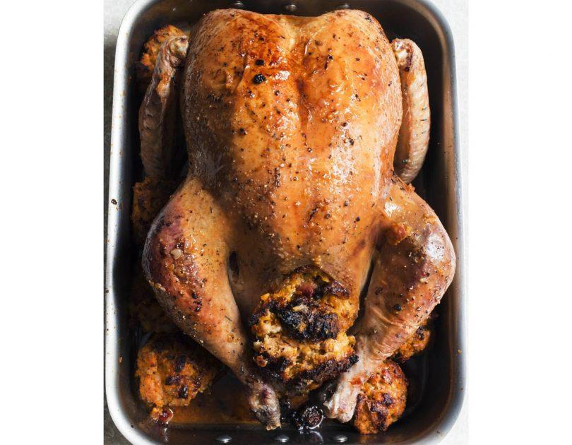 Roast Turkey with Sweet Potato Stuffing