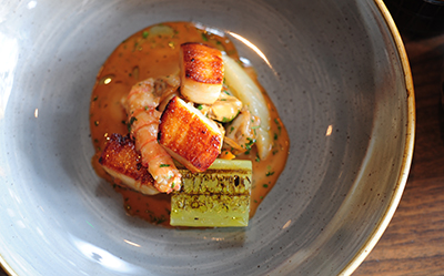 Hand-dived Scallops with Vanilla Bisque and Warm Shellfish