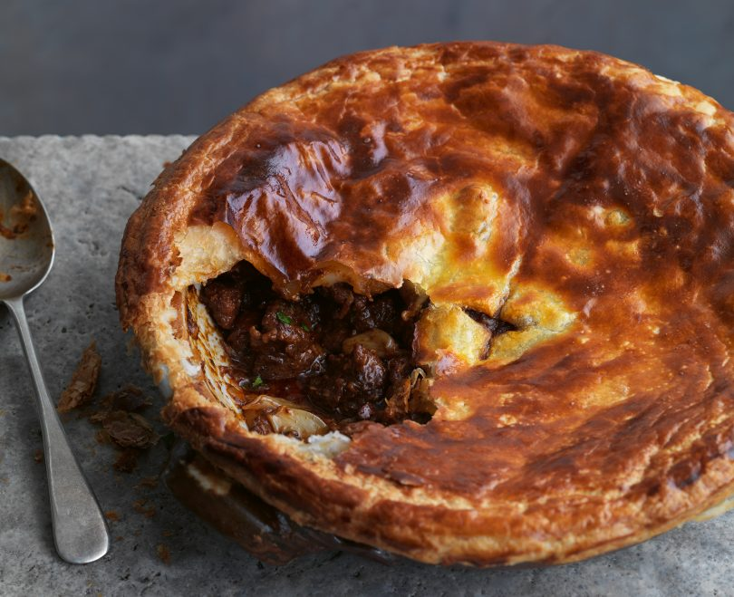 Beef & ale pie with chorizo