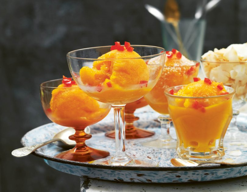 Alphonso Mango Sorbet with Chilli & Coconut
