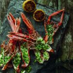 Tom Kitchin: Roasted langoustine with  spring onion and garlic butter