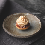 Simon Rogan: Quince tart with gingerbread ice cream