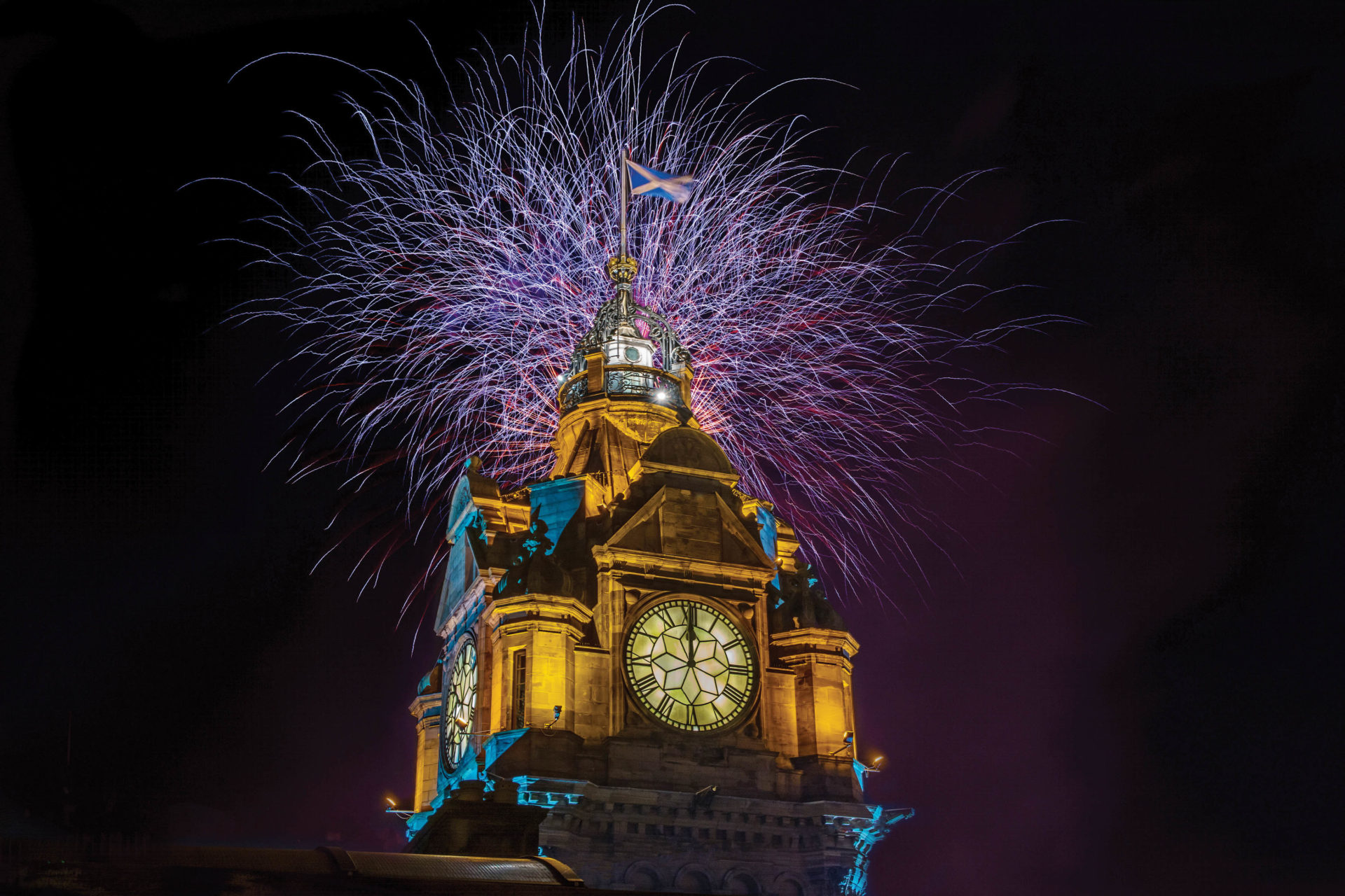 Fireworks over The Balmoral