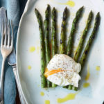 Gino's grilled asparagus with a poached egg